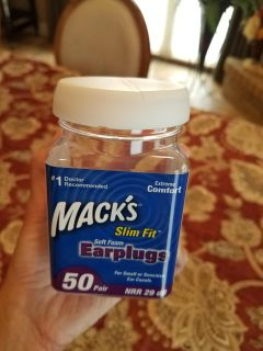 10 new unused Mack's slim fit earplugs new never used free with any purchase. I have ten left but don't need them now!