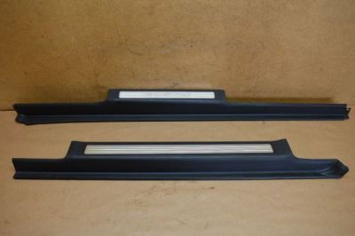 Sell 06-09 W251 MERCEDES FRONT & REAR LEFT DRIVER SIDE DOOR SILLS SILL PAIR BLACK motorcycle in Riverview, Florida, United States, for US $104.99