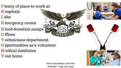 4-weeks Phlebotomy Training at E & S Academy