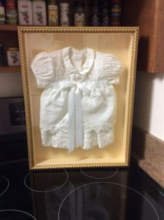 Beautiful Shadow Box with Infant Dress