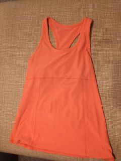 Large coral maternity workout tank