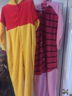 Winnie the Pooh and piglet costumes