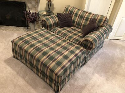 Chair and a half with large ottoman