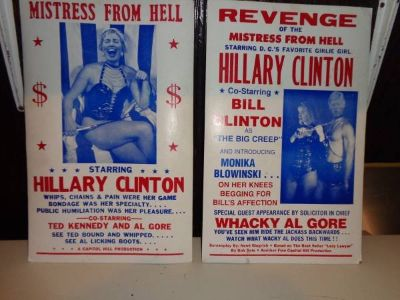 Political Satire Posters 1998 Bill&Hillary