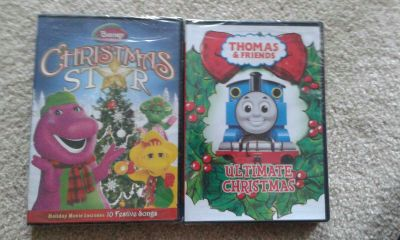 Barney and Thomas Christmas dvds new