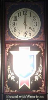 1985 Old Style Brewery Lit Mirrored Clock