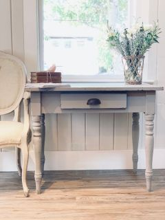 Farmhouse Desk Shabby Chic Table French Country Cottage Console Table