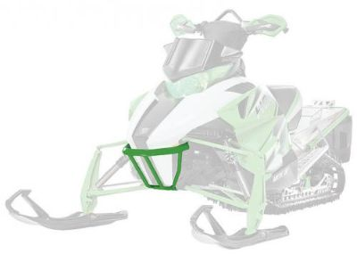 Sell New Arctic Cat Snowmobile Pearl Cat Green Sport Bumper - Part 5639-851 motorcycle in Spicer, Minnesota, United States, for US $99.95