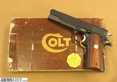 For Sale: Colt MK IV / Series 70 Government Model, 1975 Vintage, Cal. .45 ACP