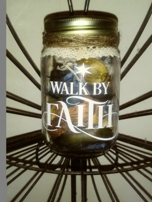 Handmade Decorated mason jar