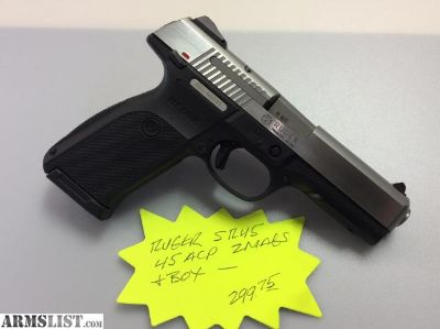 For Sale: Ruger SR45, .45ACP, 2 Mags, Box