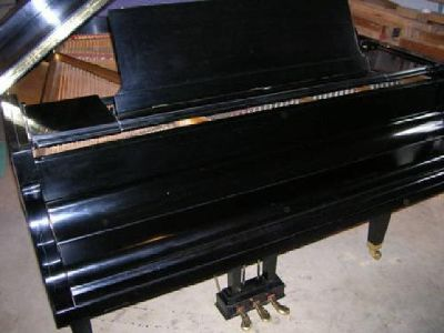 "$1,999 5'8"" ebony grand piano"