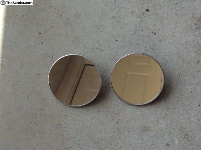 Pair of bus round mirrors