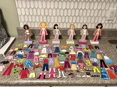 Wooden Dress up Doll Collection