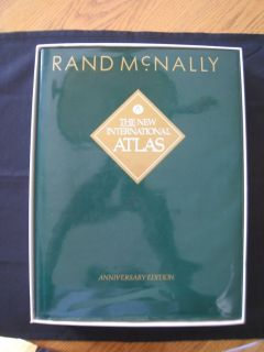 Rand McNally The New International Atlas Anniversary Edition 5 Languages 1993 with Box