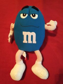 Large blue plush M&M collector's doll