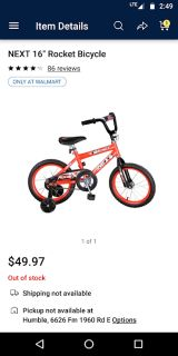 "Boy's 16"" Bike (Bicycle) LOOKS NEW (Includes Training Wheels)"