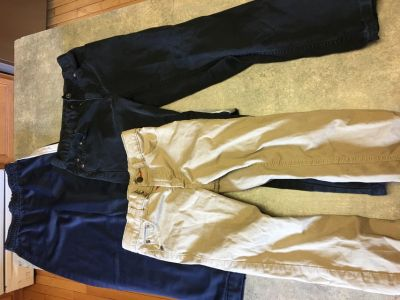 Boys size 7 sweatpants, jeans