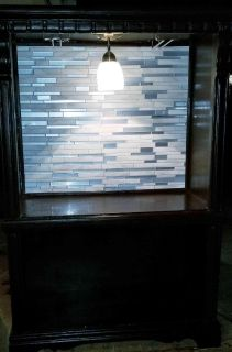 Lit Home Bar or Accent Furniture restored from old Armoire!