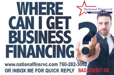 Business LOAN! Start-ups Welcome! Bad to Fair Credit OK!