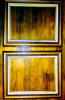 Two Vintage real wood pic frames 12x 16 in