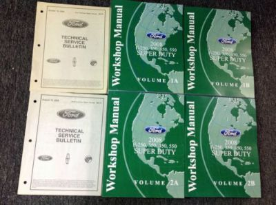 Buy 2008 Ford F-250 F-350 F450 550 TRUCK Service Shop Repair Manual Set FACTORY NEW motorcycle in Sterling Heights, Michigan, United States, for US $290.00