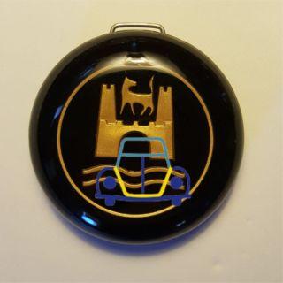 Horn Button, Bug/Ghia Wolfsburg Crest Emblem, Gold