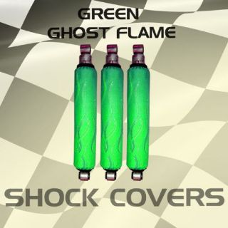Sell Yamaha raptor 350 Green Ghost Flame Shock Cover #acf12605 ijs4615 motorcycle in Milwaukee, Wisconsin, United States, for US $29.99