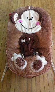 Fisher-price calming vibrations bouncy seat needs batteries and no toy bar for over the top