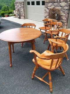 8 piece Solid Maple Table /chairs