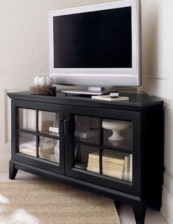 Crate and barrel corner TV stand