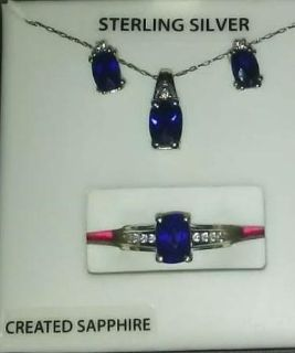 Matching Necklace ring and earrings