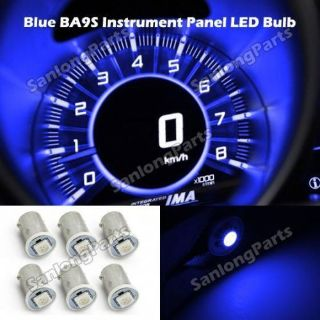 Purchase 6X BA9S LED DASH INSTRUMENT CLUSTER GAUGES ASH TRAY GLOVE BOX LIGHT BULBS Blue motorcycle in Milpitas, California, United States