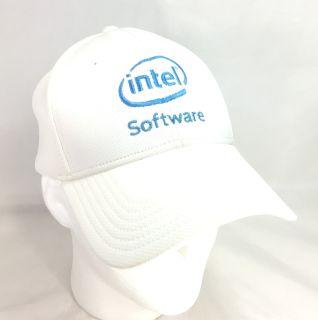 Intel Software Baseball Cap Hat White Blue Vintage Otto