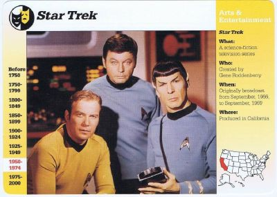 Star Trek - 1995 Grolier Story Of America Trading Card