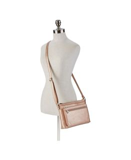 Relic Evie East West Crossbody Bag Rose Gold NWT