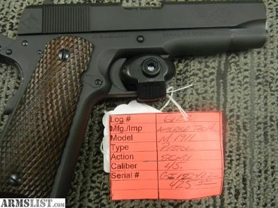 For Sale: AMERICAN TACTIC 1911 LOG#6123