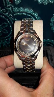 ELGIN MENS WATCH SILVER AND GOLD TONE
