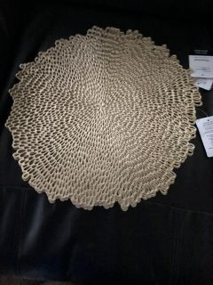 NWT set of 4 gold vinyl placemats