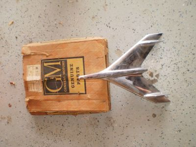 NEW NOS GM Hood Ornament NOMAD Chevrolet Bel Air 1956 NOS 56 RARE OEM BOX GM