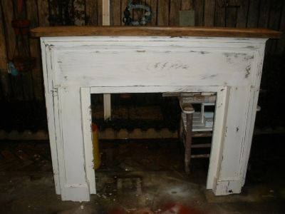 Antique Cypress Fireplace Mantle
