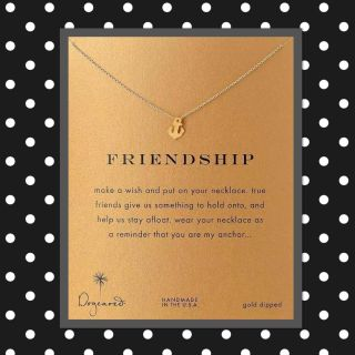 Friendship Gold anchor necklace on beautiful card stock, perfect gift! $3 each