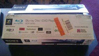 BLU-RAY DISC /DVD PLAYER BDP-S580 NEW/OPEN