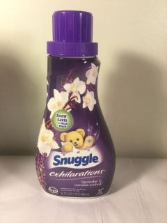 Snuggle exhilaration s lavender and vanilla orchid Fabric softener