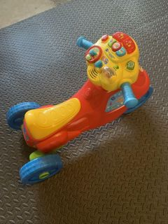 VTech 2-in-1 Learn and Zoom Motorbike Ride On Toy