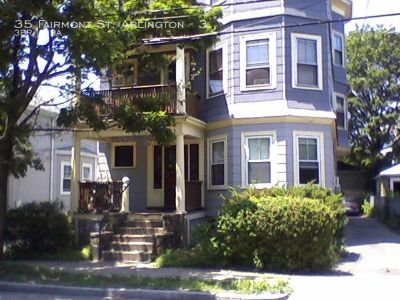 Large three bedroom with high ceilings and off street parking. Washer & dryer.