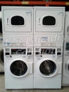 Fair Condition Speed Queen Stacked Gas Washer/Dryer STGT79WN Used