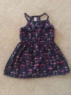 Adorable flamingo dress sized 18 months but fits more like 12 months excellent condition