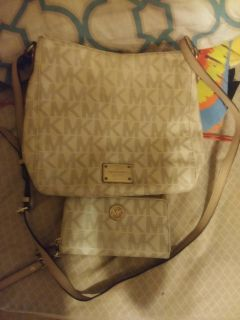 Authentic Michael Kors wallet and purse cross body