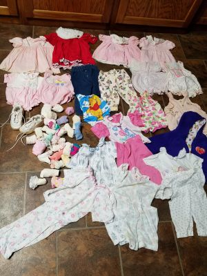 Huge lot of Baby Girl Clothes $2 All